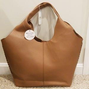 NWT! Charming Charlie Brown Shoulder Bag